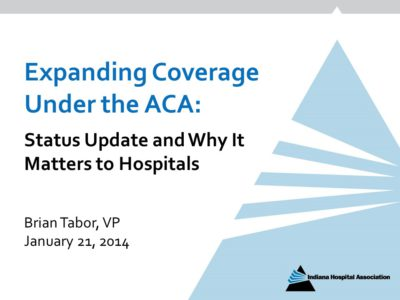 Medicaid Expansion ACA presentation title slide