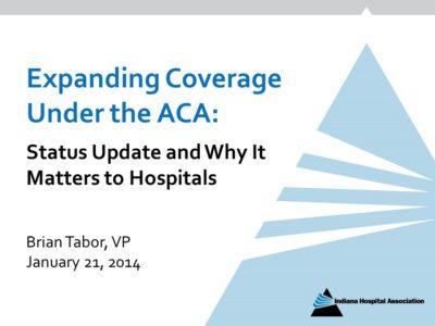 Medicaid Expansion ACA presentation title slide