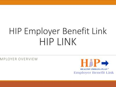 HIP Link presentation title slide by Seema Verma