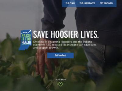 raise it for health website screenshot