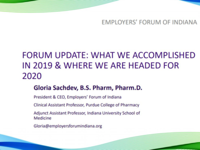 Employers' Forum of Indiana 2019 Year in Review presentation title slide