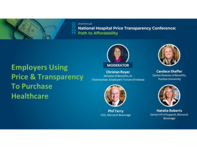 employer panel 2020 national hospital price transparency conference title slide