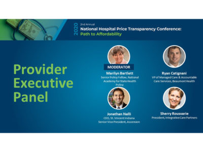 executive panel 2020 national hospital price transparency conference title slide