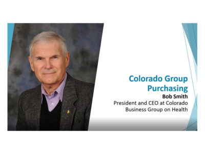 Colorado Group Purchasing by Bob Smith presentation title slide