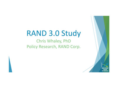 RAND 3.0 Study Findings by Chris Whaley presentation title slide