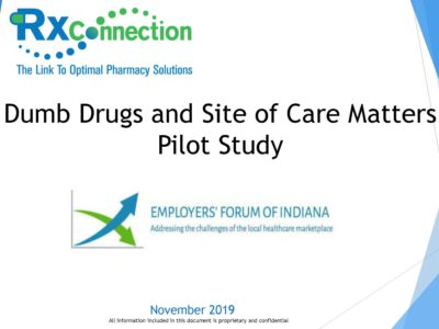 Dumb Drugs and Site of Care Matters Pilot Study presentation title slide