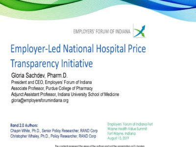 Employer Led National Hospital Price Transparency Initiative presentation title slide