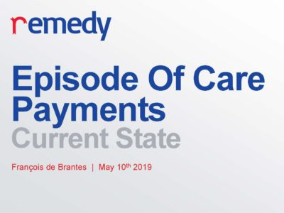 Episode Of Care Payments Current State presentation title slide