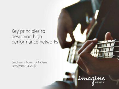 High Performace Networks Imagine Health presentation title slide
