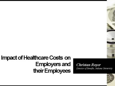 IU Christan Royer presentation EFI National Hospital Price Transparency Conference title slide