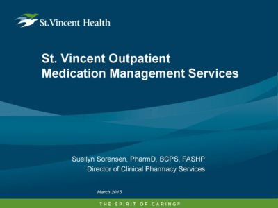 Medication Management Services presentation title slide by Suellyn Sorensen