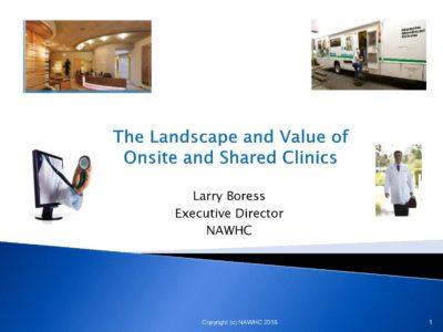 National Association of Worksite Health Centers by Larry Boress presentation title slide