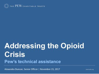 Opioid State Strategy Pew Foundation presentation title slide