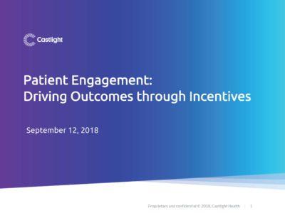 Patient Engagement by Castlight Health presentation title slide