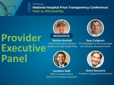 Provider Executive Panel at the National Hospital Price Transparency Conference title slide