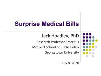 Surprise Billing by Jack Hoadley presentation title slide