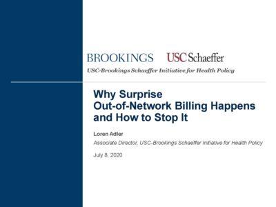 Surprise Billing by Loren Adler presentation title slide