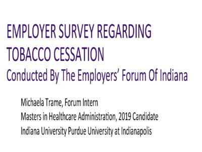 Tobacco Cessation Program Full Survey Results presentation title slide