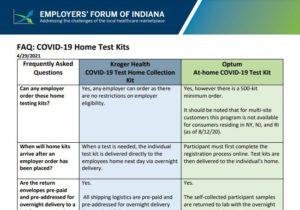 COVID-19 Home Test Kits FAQ cover page