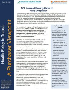 Link to Department of Labor Additional Guidelines on Parity Compliance