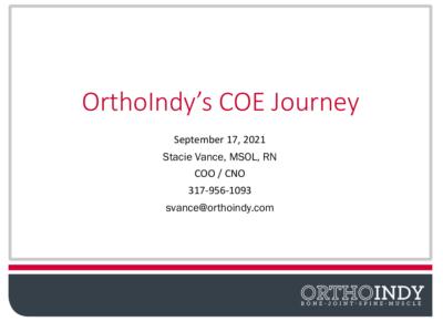OrthoIndy's COE Journey