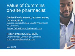 Clinical Pharmacist Services: The Cummins Experience