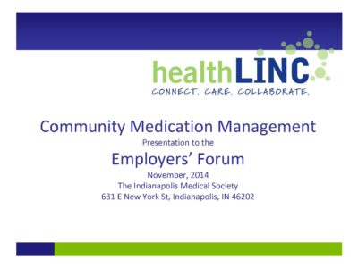 Community Medication Management presentation title slide by HealthLinc