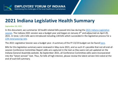 2021 Legislative Health Summary
