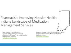 Indiana Landscape of Pharmacist Medication Management