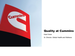 Quality at Cummins