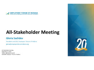 Welcome to the September 2021 All-Stakeholder Meeting