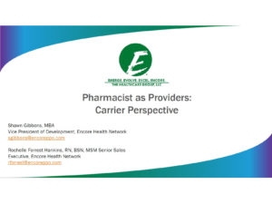 Pharmacists as Providers: Carrier Perspective